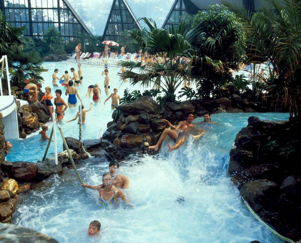 1986 - Het subtropische zwemparadijs op Het Heijderbos met de eerste wildwaterbaan