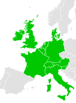 kaart europa heidelberg